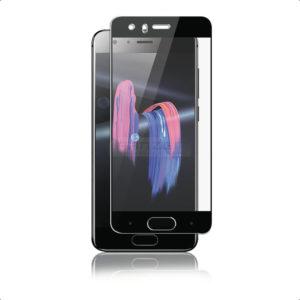 Huawei Honor 9 Svart Heltäckande Härdat Glas Skärmskydd 0,2mm