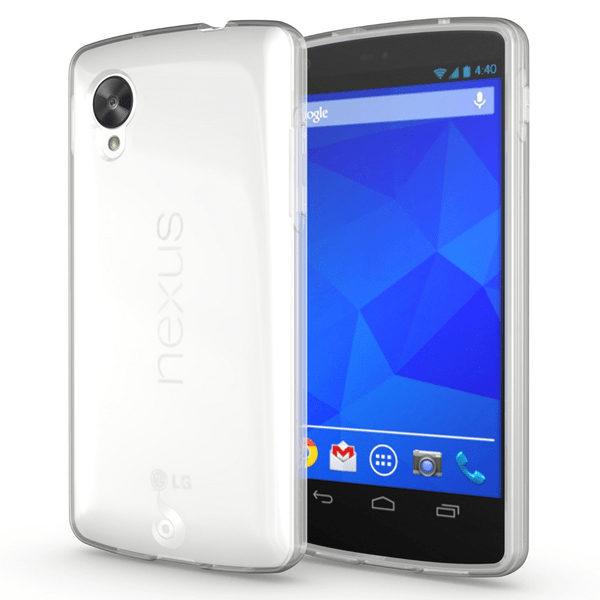 LG Nexus 5 Genomskinligt Mjukt TPU Skal