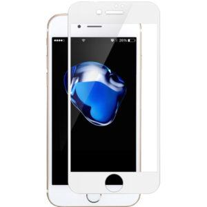 Heltäckande iPhone 8 Plus Härdat Glas Skärmskydd 0,2mm - Vit