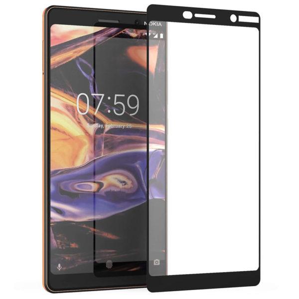 Nokia 7 Plus Heltäckande 3D Härdat Glas Skärmskydd 0,2mm