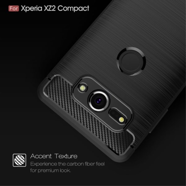 Sony Xperia XZ2 Anti Shock Carbon Stöttålig Skal - Svart