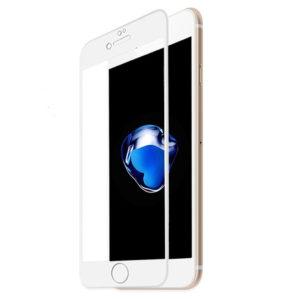 Heltäckande iPhone 6S Härdat Glas Skärmskydd 0,2mm - Vit