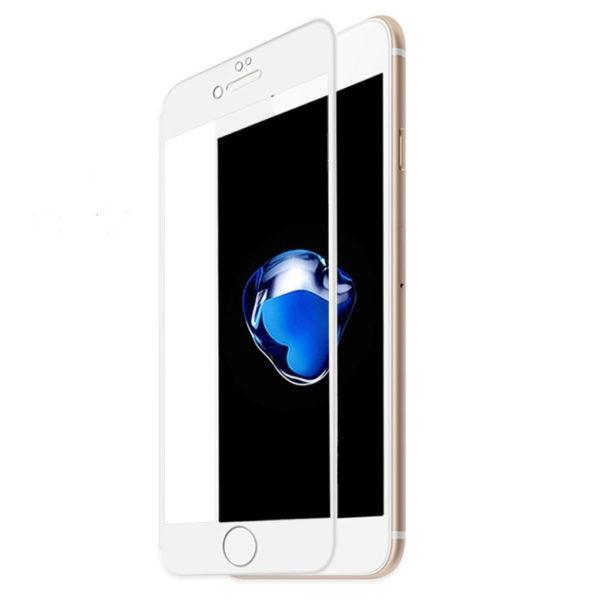 Heltäckande iPhone 6 Härdat Glas Skärmskydd 0,2mm - Vit