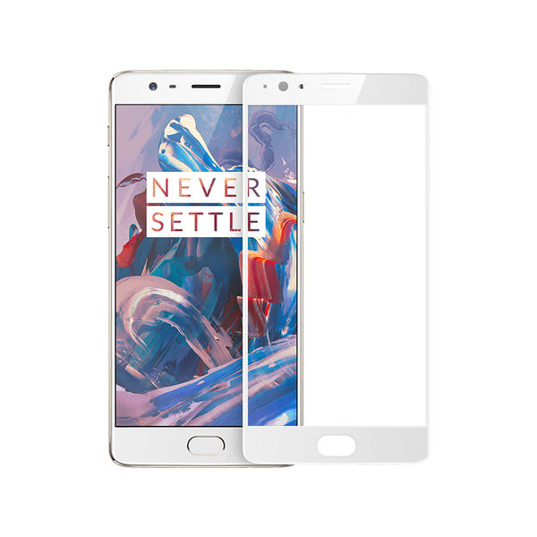 OnePlus 3 Vit 3D Härdat Glas Skärmskydd