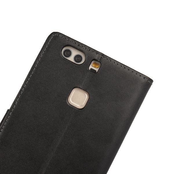 Huawei P9 Plus Läder Plånboksfodral - Svart / Brun