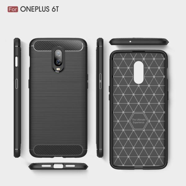 OnePlus 6T Anti Shock Carbon Stöttålig Skal