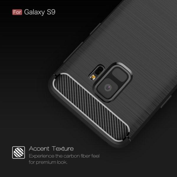 Samsung Galaxy S9 Anti Shock Carbon Stöttålig Skal
