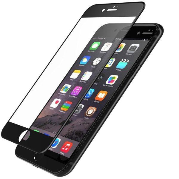 Heltäckande iPhone 6 Plus Härdat Glas Skärmskydd 0,2mm - Svart