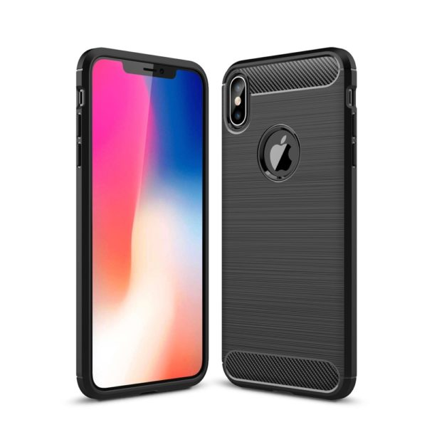 iPhone XS Max Anti Shock Carbon Stöttålig Skal