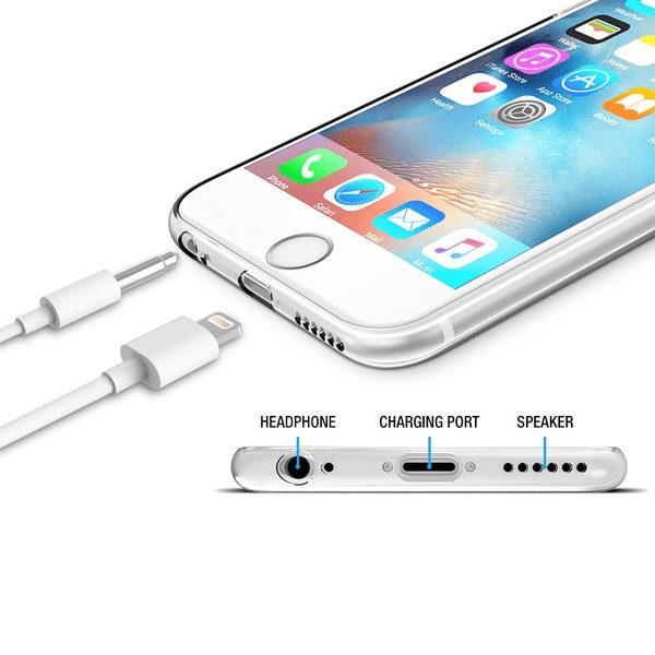 iPhone 6/6S Genomskinlig Mjuk TPU Skal