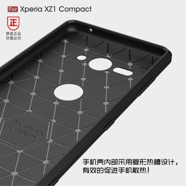 Sony Xperia XZ2 Compact Anti Shock Carbon Stöttålig Skal