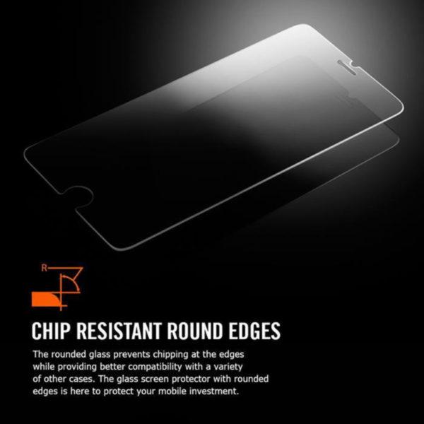 Heltäckande iPhone 6 Plus Härdat Glas Skärmskydd 0,2mm - Vit