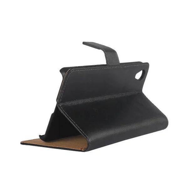 Sony Xperia XA Läder Plånboksfodral - Svart / Brun