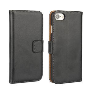 iPhone 8 Plus Läder Plånboksfodral - Svart