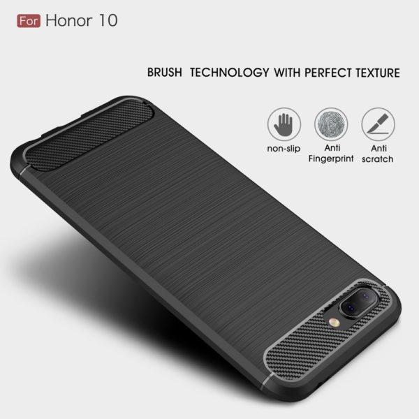 Huawei Honor 10 Anti Shock Carbon Stöttålig Skal