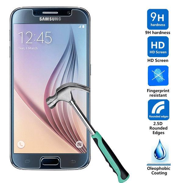 2-Pack Samsung Galaxy S6 Härdat Glas Skärmskydd 0,3mm