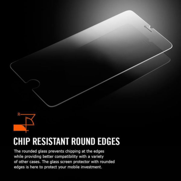 Heltäckande iPhone 7 Härdat Glas Skärmskydd 0,2mm - Vit