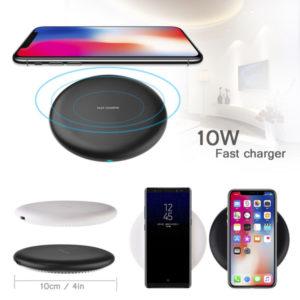 Trådlös Snabbladdare För iPhone och Samsung - Svart
