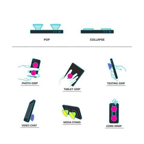 Pop-up - Hållare till Mobil - Vit