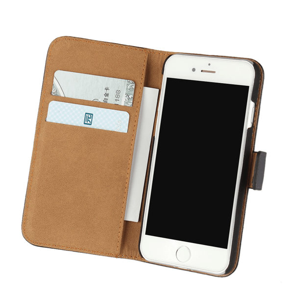 iPhone 7 Plus Läder Plånboksfodral - Svart