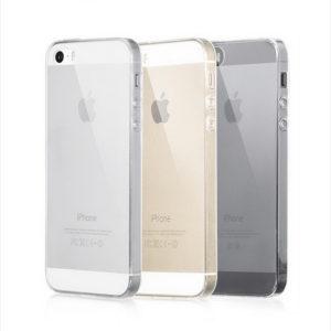 iPhone 5 SE Genomskinlig Mjuk TPU Skal