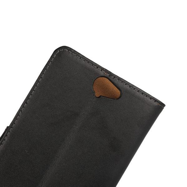 HTC One A9 Läder Plånboksfodral - Svart / Brun