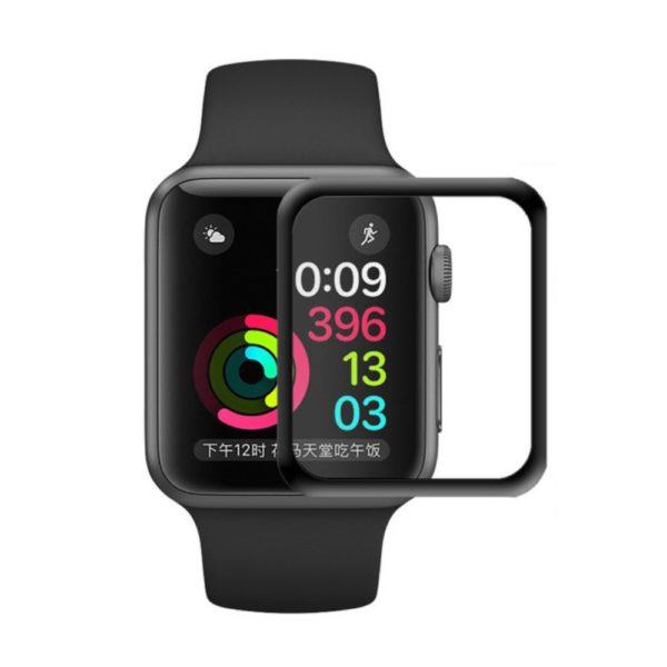 Apple Watch 4 40mm Heltäckande 3D Härdat Glas Skärmskydd 0,3mm