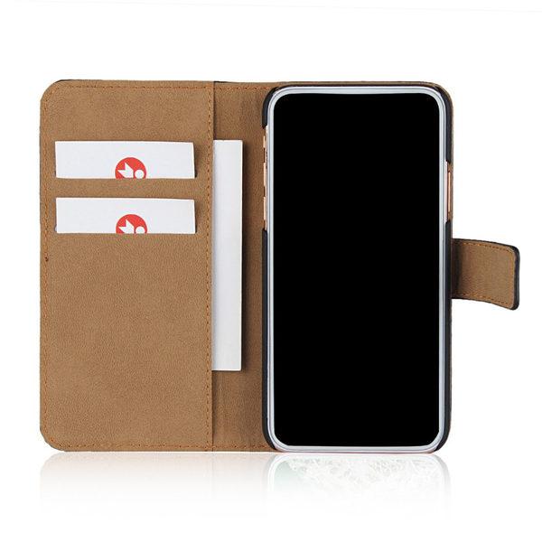 iPhone XS Läder Plånboksfodral - Svart