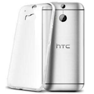 HTC One M8 Genomskinlig Mjuk TPU Skal