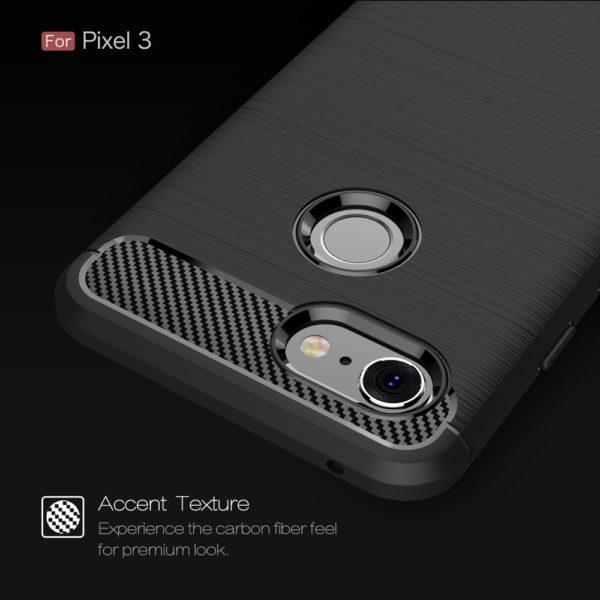 Google Pixel 3 Anti Shock Carbon Stöttålig Skal