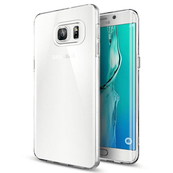 Samsung Galaxy S6 Edge Plus Genomskinlig Mjuk TPU Skal