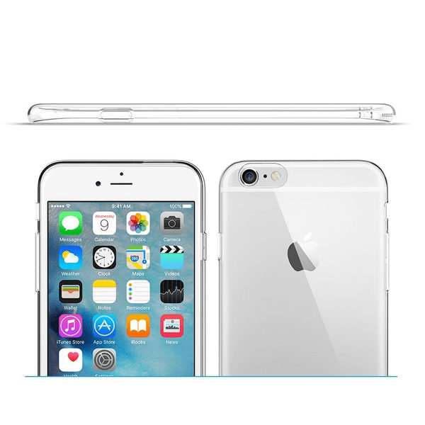 iPhone 6 Genomskinligt Mjukt TPU Skal
