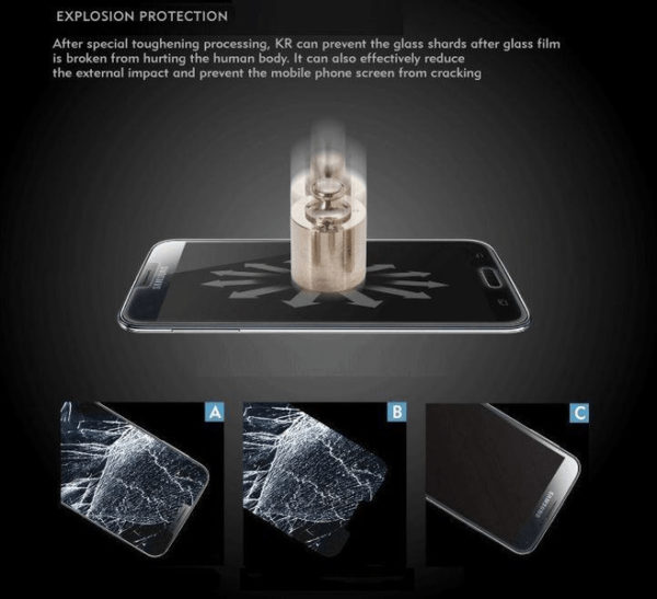 Samsung Galaxy S6 Edge Plus Härdat Glas Skärmskydd 0,3mm