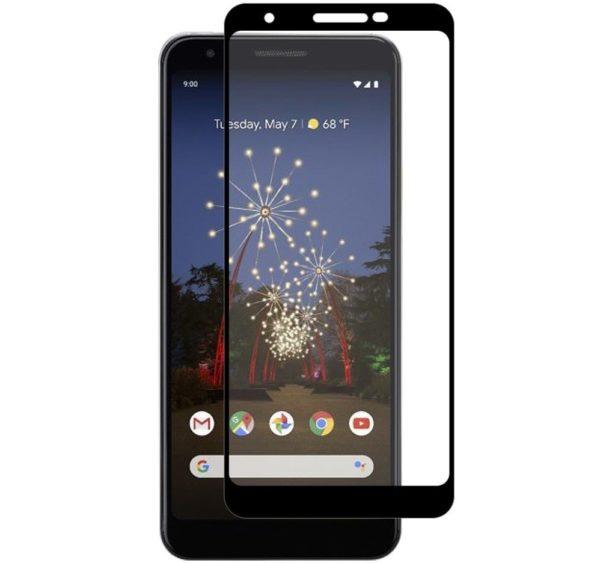 Google Pixel 3a Heltäckande 3D Härdat Glas Skärmskydd 0,2mm
