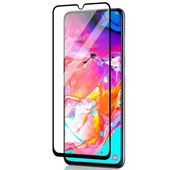 Samsung Galaxy A70 Heltäckande 3D Härdat Glas Skärmskydd