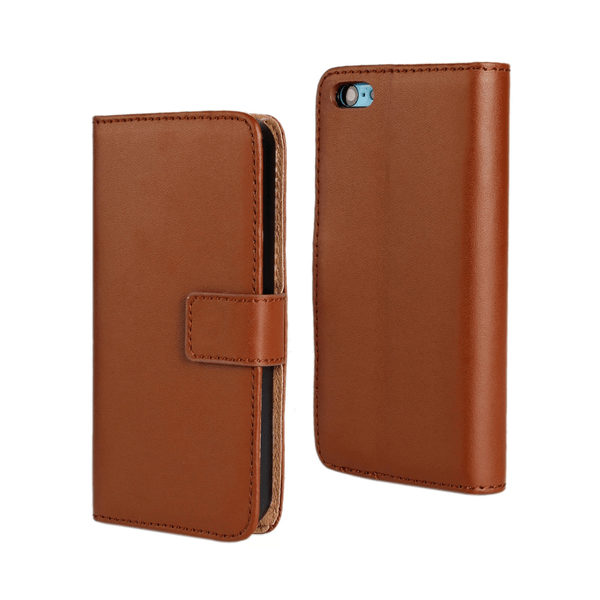 iPhone 5 SE Läder Plånboksfodral Svart / Brun