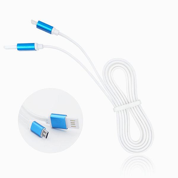 USB Kabel 1 Meter Platt Trasselfri Sladd