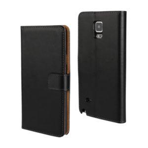 Samsung Galaxy Note 4 Läder Plånboksfodral - Svart / Brun