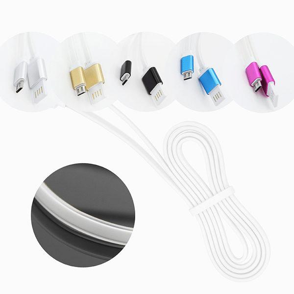Trasselfri Platt USB Kabel - 1 Meter - Silver