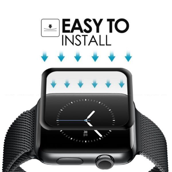 Apple Watch 5 44 mm Heltäckande 3D Härdat Glas Skärmskydd 0,3mm