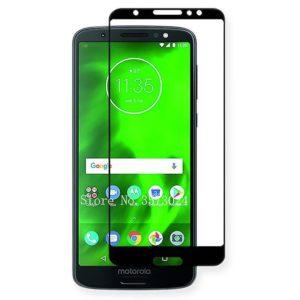 Motorola Moto G6 Plus Heltäckande 3D Härdat Glas Skärmskydd