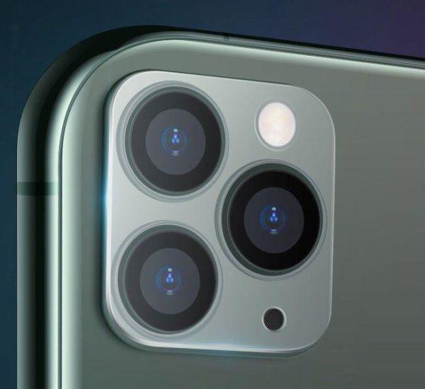 iPhone 11 Pro Max Kamera Linsskydd Härdat Glas 0,2mm