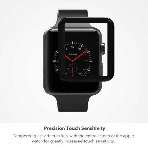 Apple Watch 42mm Heltäckande 3D Härdat Glas Skärmskydd 0,3mm