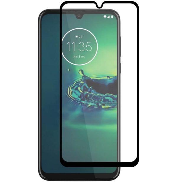 Motorola Moto G8 Plus Heltäckande 3D Härdat Glas Skärmskydd