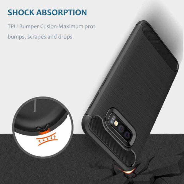 Samsung Galaxy S10e Anti Shock Carbon Case Stöttålig Skal