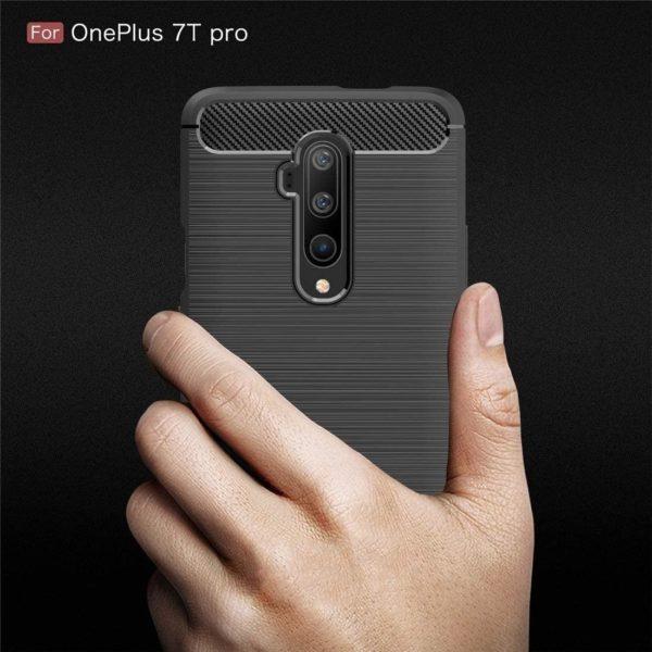 OnePlus 7T Pro Anti Shock Carbon Stöttålig Skal