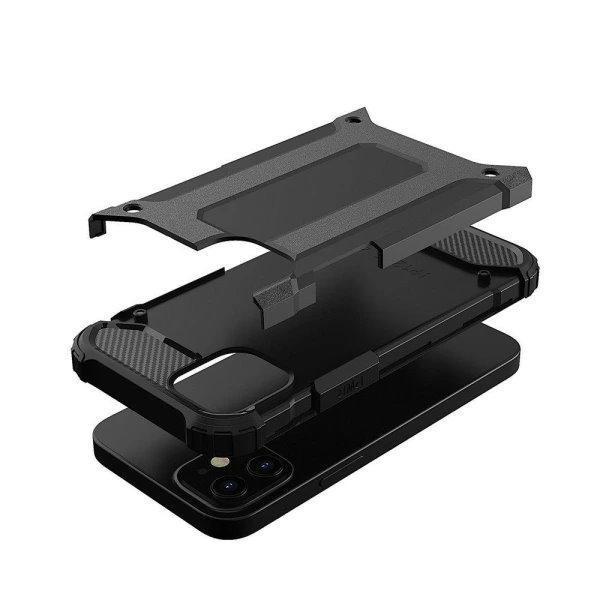 iPhone 12 Mini Armor Case Stöttålig Skal - Svart