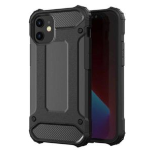 iPhone 12 Mini Armor Case Stöttålig Skal - Svart